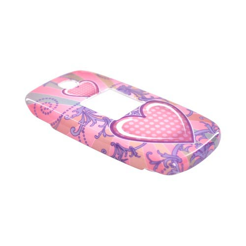 Samsung Myshot R430 Hard Case - Pink Heart Design