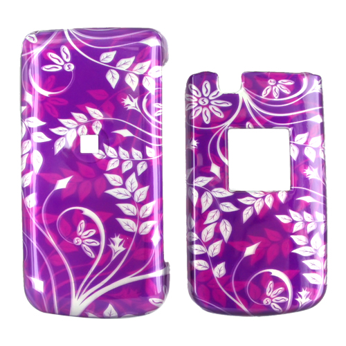 Samsung Myshot 2 R460 Hard Case - Floral on Purple