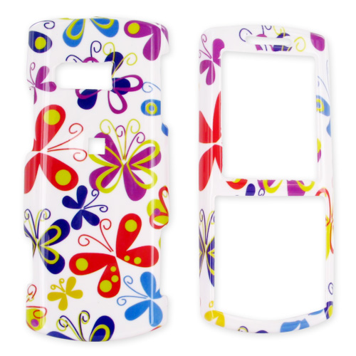 Samsung Messager II R560 Hard Case - Colorful Butterflies on White