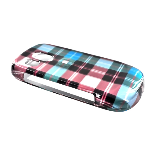 Samsung Caliber R860/R850 Hard Case - Plaid Pattern of Blue, Green, Brown, Grey