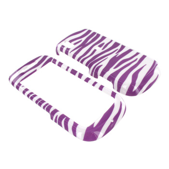 Samsung Instinct S30 Hard Case - Light Purple Zebra on White