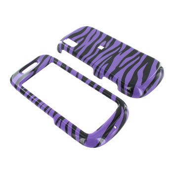 Samsung Instinct S30 Hard Case - Purple Zebra