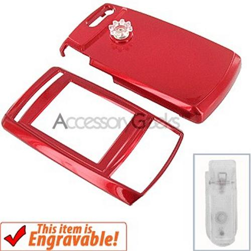 Samsung T629 Protective Hard Case - Red