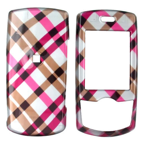 Samsung T659 Hard Case - Checkered Diamonds of Pink, Hot Pink, Brown, and Grey