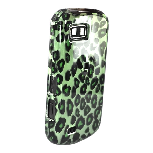Samsung Behold 2 T939 Hard Case - Green/Black Leopard Print on Green
