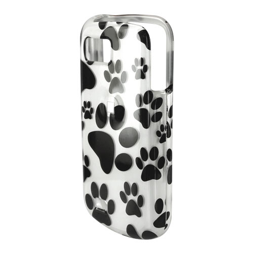 Samsung Behold 2 T939 Hard Case - Black Dog Paws on White
