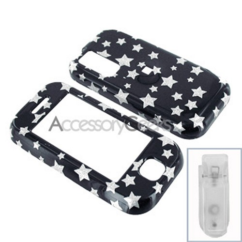 Samsung Glyde Hard Case - Silver Star on Black