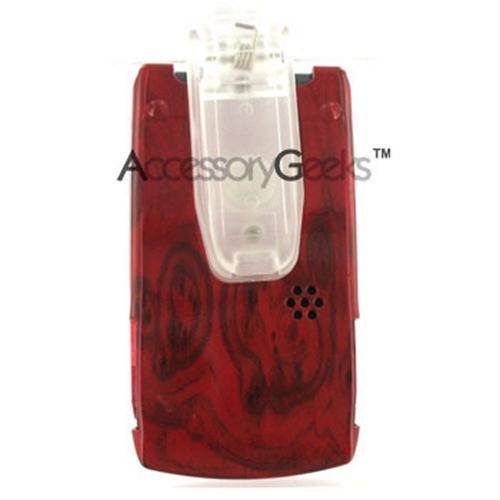 Sanyo 6600 Katana Red Wood Hard Case w/ Clip