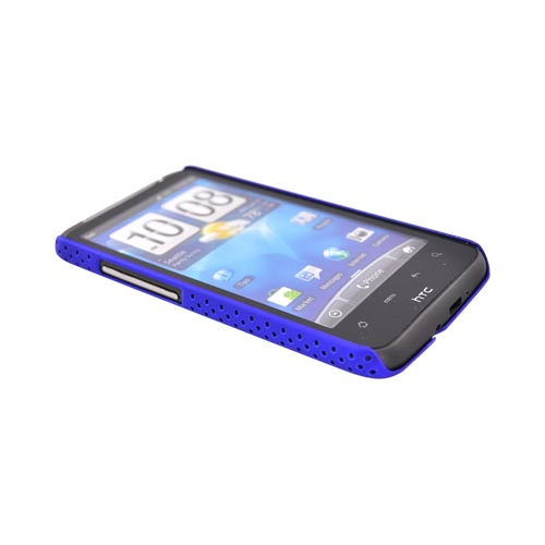HTC Inspire 4G Rubberized Hard Back Cover Case - Mesh Blue