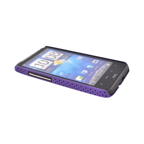 HTC Inspire 4G Rubberized Hard Back Cover Case - Mesh Purple