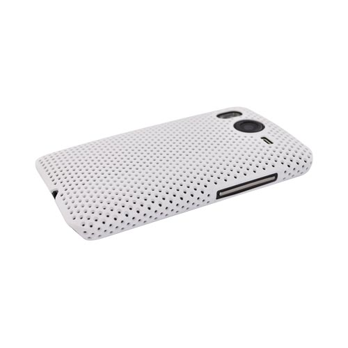 HTC Inspire 4G Rubberized Hard Back Cover Case - Mesh White