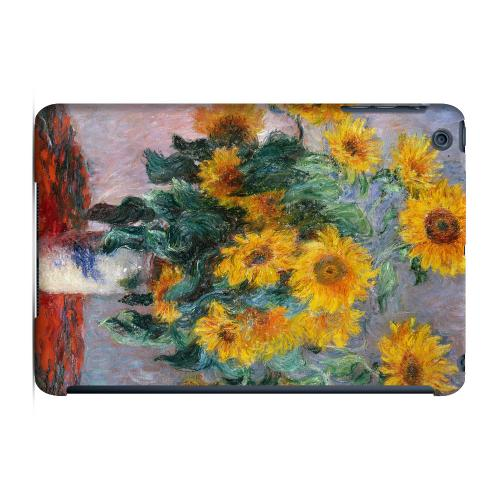 Geeks Designer Line (GDL) Slim Hard Case for Apple iPad Mini - Claude Monet Bouquet of Sunflowers