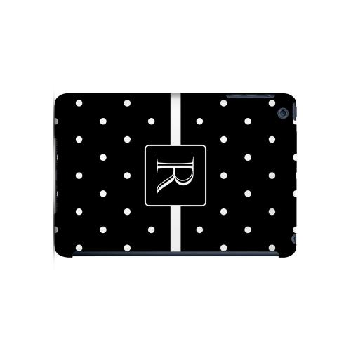 R on Classic Mini Polka Dots - Geeks Designer Line Monogram Series Hard Case for Apple iPad Mini
