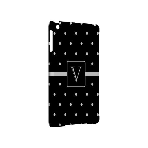 V on Classic Mini Polka Dots - Geeks Designer Line Monogram Series Hard Case for Apple iPad Mini