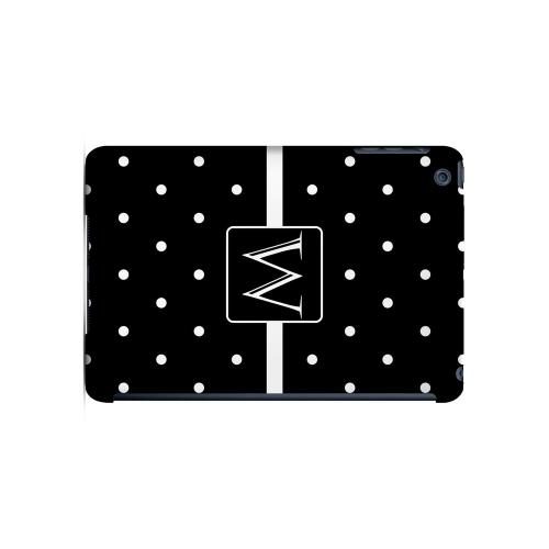 W on Classic Mini Polka Dots - Geeks Designer Line Monogram Series Hard Case for Apple iPad Mini