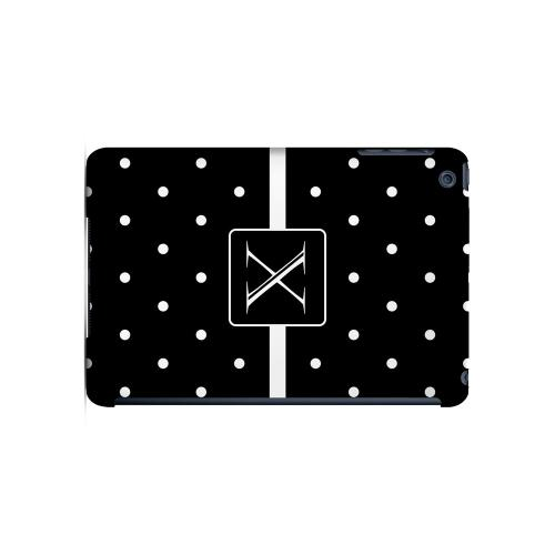 X on Classic Mini Polka Dots - Geeks Designer Line Monogram Series Hard Case for Apple iPad Mini