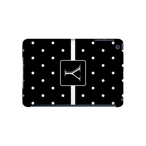 Y on Classic Mini Polka Dots - Geeks Designer Line Monogram Series Hard Case for Apple iPad Mini