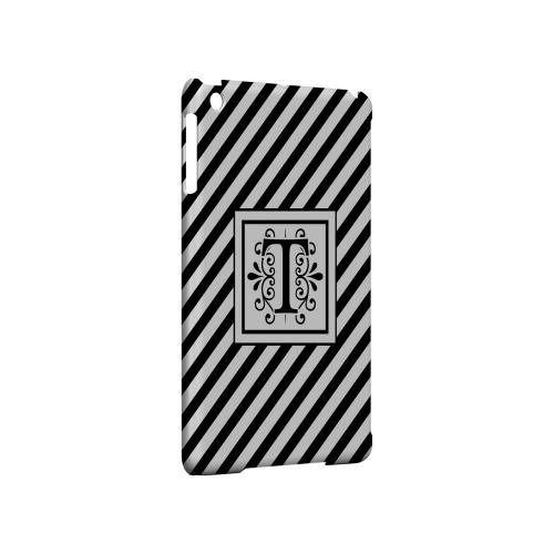 Vintage Vine T On Black Slanted Stripes - Geeks Designer Line Monogram Series Hard Case for Apple iPad Mini