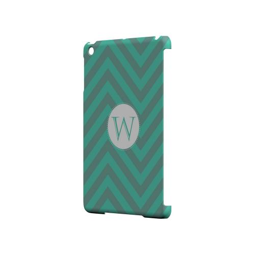 Seafoam Green W on Zig Zags - Geeks Designer Line Monogram Series Hard Case for Apple iPad Mini