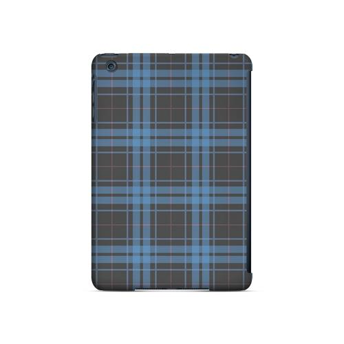 Blue/ Gray/ Pink Plaid - Geeks Designer Line Checker Series Hard Case for Apple iPad Mini