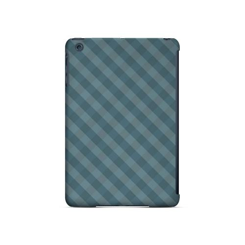 Blue/ Green/ White/ Gray Plaid - Geeks Designer Line Checker Series Hard Case for Apple iPad Mini