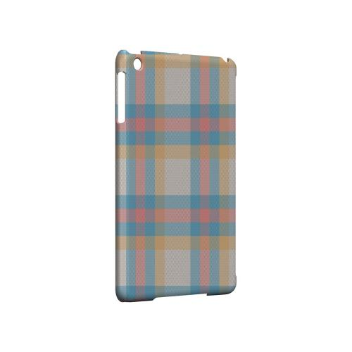Blue/ Pink/ Orange Plaid Fabric - Geeks Designer Line Checker Series Hard Case for Apple iPad Mini