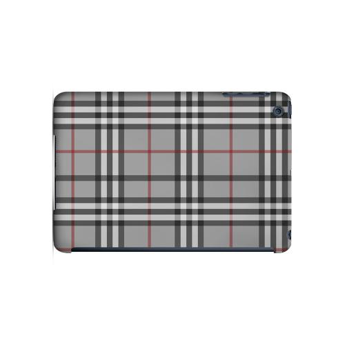 Classic Gray/ White/ Red Plaid - Geeks Designer Line Checker Series Hard Case for Apple iPad Mini