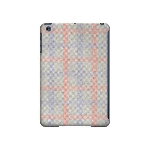 Faint Red/ Blue/ Gray Plaid - Geeks Designer Line Checker Series Hard Case for Apple iPad Mini