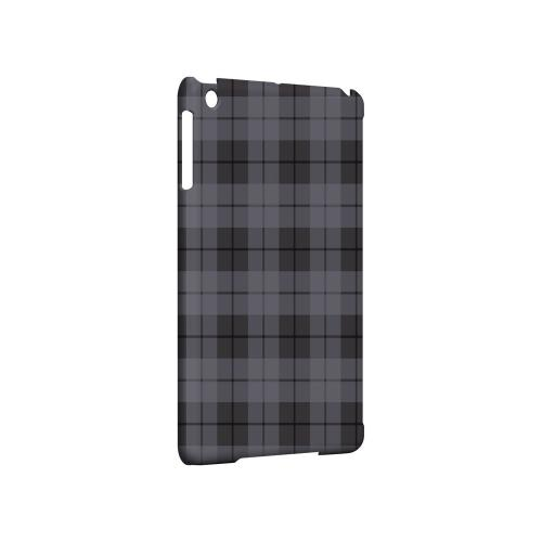 Grayish Plaid - Geeks Designer Line Checker Series Hard Case for Apple iPad Mini
