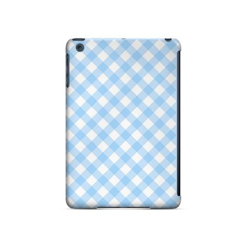 Light Blue Plaid - Geeks Designer Line Checker Series Hard Case for Apple iPad Mini
