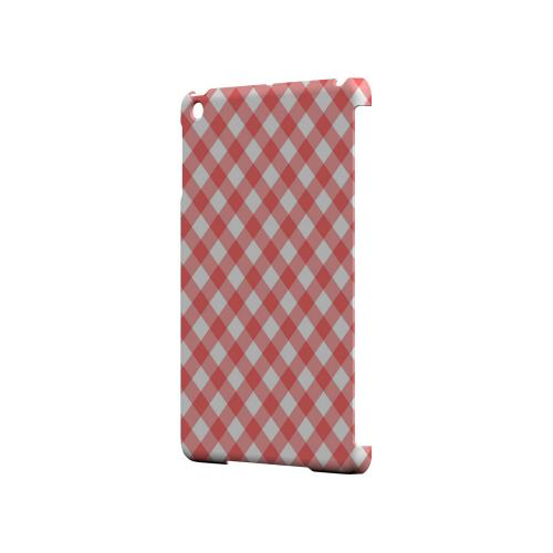 Light Red Plaid - Geeks Designer Line Checker Series Hard Case for Apple iPad Mini
