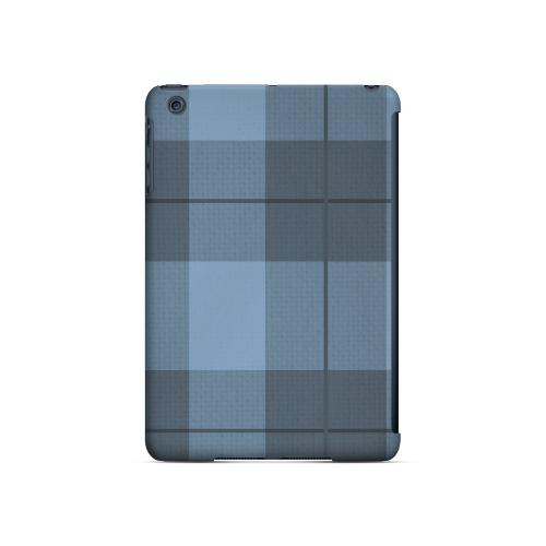 Off-Centered Zoom Blue Plaid - Geeks Designer Line Checker Series Hard Case for Apple iPad Mini