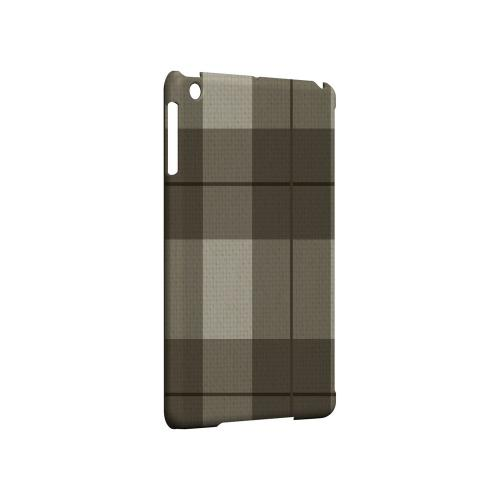 Off-Centered Zoom Brown Plaid - Geeks Designer Line Checker Series Hard Case for Apple iPad Mini