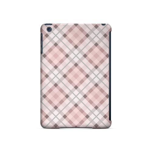 Pink/ Gray Plaid - Geeks Designer Line Checker Series Hard Case for Apple iPad Mini