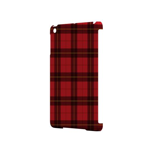 Scottish-Like Plaid in Red - Geeks Designer Line Checker Series Hard Case for Apple iPad Mini