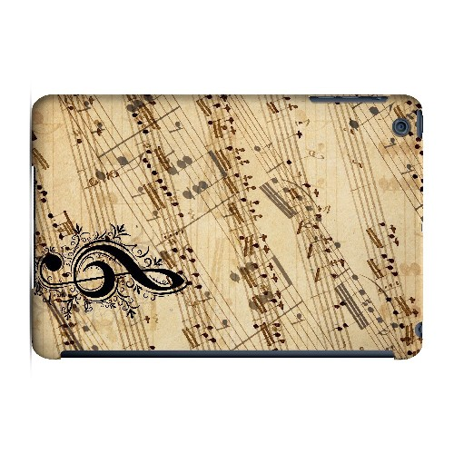Allegro Grunge - Geeks Designer Line Music Series Hard Case for Apple iPad Mini