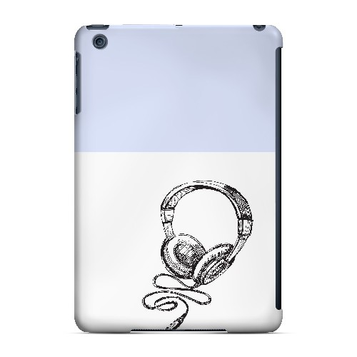 Head Bobbing Faint Blue - Geeks Designer Line Music Series Hard Case for Apple iPad Mini