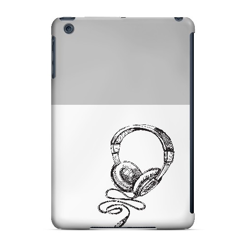 Head Bobbing Gray - Geeks Designer Line Music Series Hard Case for Apple iPad Mini