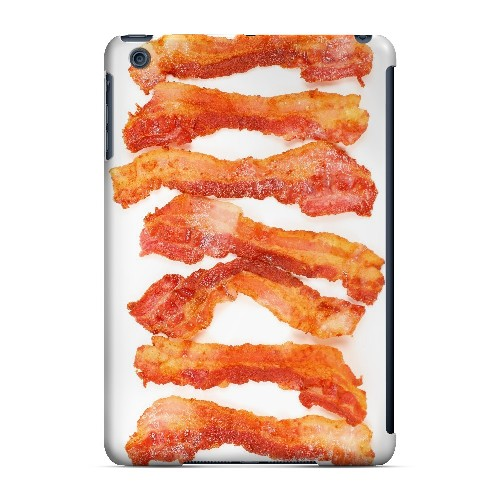 Bacon Goes Good - Geeks Designer Line Humor Series Hard Case for Apple iPad Mini
