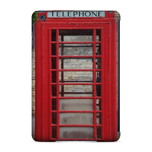 English Telephone Booth - Geeks Designer Line Humor Series Hard Case for Apple iPad Mini
