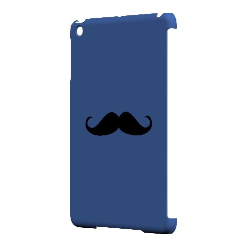 Mustache Blue - Geeks Designer Line Humor Series Hard Case for Apple iPad Mini
