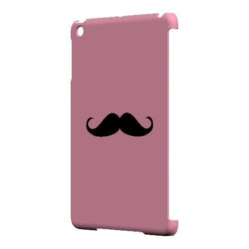 Mustache Pink - Geeks Designer Line Humor Series Hard Case for Apple iPad Mini