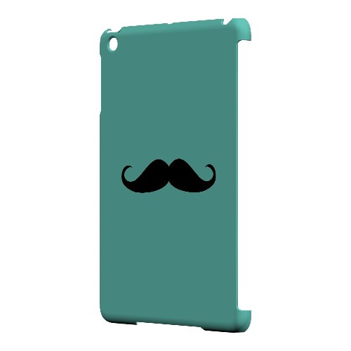 Mustache Teal - Geeks Designer Line Humor Series Hard Case for Apple iPad Mini