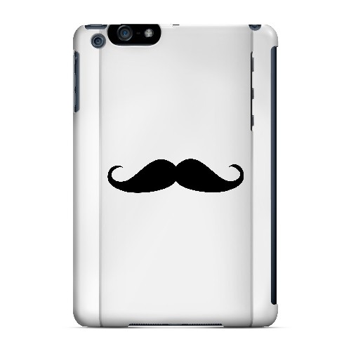 Mustache White - Geeks Designer Line Humor Series Hard Case for Apple iPad Mini