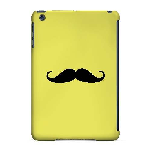 Mustache Yellow - Geeks Designer Line Humor Series Hard Case for Apple iPad Mini