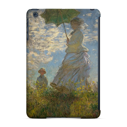 Woman with a Parasol - Madame Monet and Her Son by Claude Monet - Geeks Designer Line Artist Series Hard Case for Apple iPad Mini