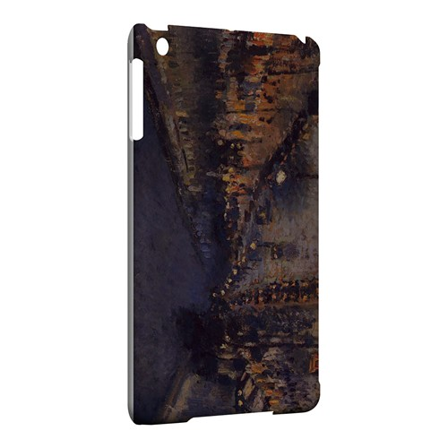 Boulevard Montmarte at Night by Camille Pisarro - Geeks Designer Line Artist Series Hard Case for Apple iPad Mini