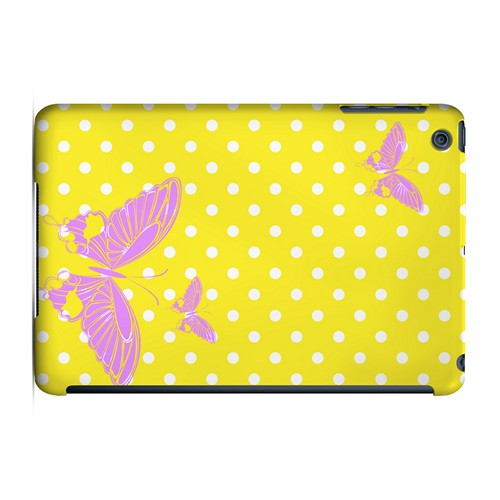 Pink Butterfly on White Polka Dots - Geeks Designer Line Spring Series Hard Case for Apple iPad Mini