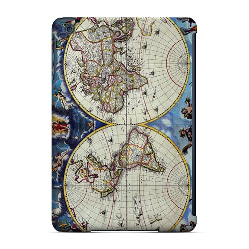 Terrarum Orbis Tabula Pictomap - Geeks Designer Line Map Series Hard Case for Apple iPad Mini