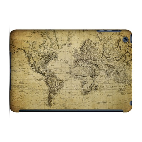 Vintage World Map Circa 1800's - Geeks Designer Line Map Series Hard Case for Apple iPad Mini